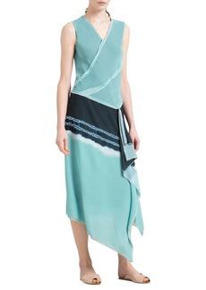 DKNY Asymmetrical Wrap Dress