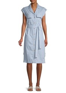 DKNY Belted Cotton Shirtdress