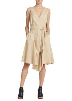 DKNY Belted Cotton Wrap Dress