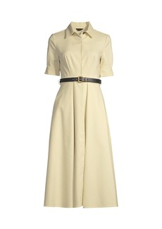 DKNY Belted Fit-&-Flare Dress