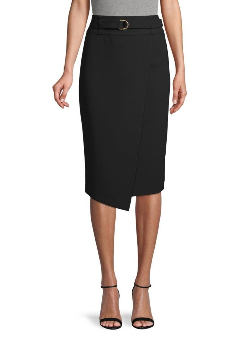 DKNY Belted Wrap Skirt