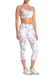 DKNY Blossom Floral Printed Cropped Leggings