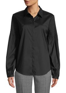 DKNY Bousant-Sleeve Button-Down Shirt