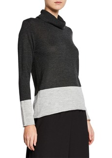 DKNY Boxy-Fit Turtleneck Sweater