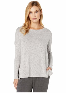 DKNY Brushed Sweater Jersey Long Sleeve Top