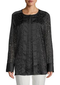DKNY Burnout Textured Blouse