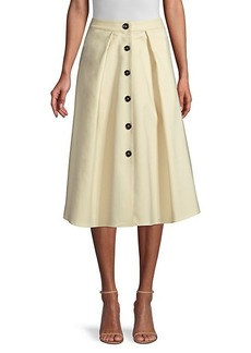 DKNY Button-Front A-Line Midi Skirt
