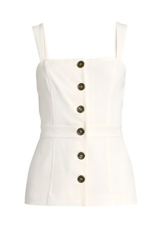 DKNY Button-Front Top