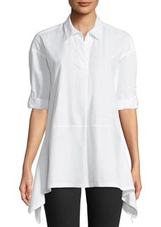 DKNY Button-Front Trapeze Top