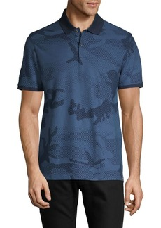DKNY Camouflage Cotton-Blend Polo