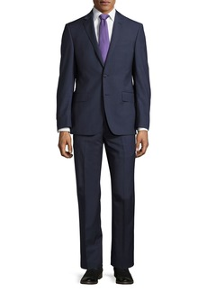 DKNY Check-Print Slim-Fit Two-Piece Suit