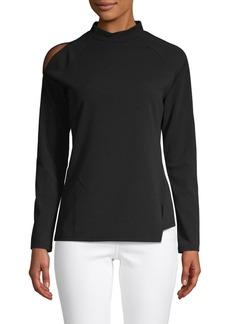DKNY Cold Shoulder Asymmetrical Top