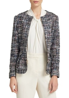 DKNY Collarless Full-Zip Jacket