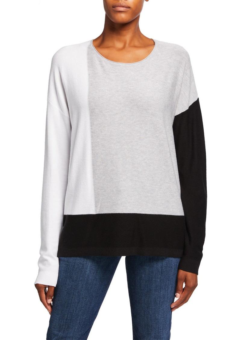 DKNY Colorblock Side Slit Pullover