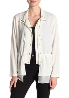 DKNY Combo Drawstring Waist Jacket