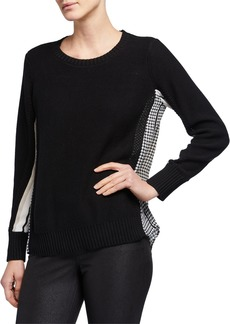 DKNY Combo Shirttail Sweater