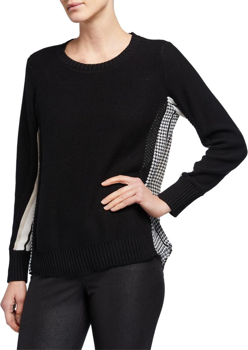 DKNY Combo Shirttail Sweater