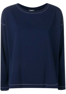 DKNY contrast stitch sweater