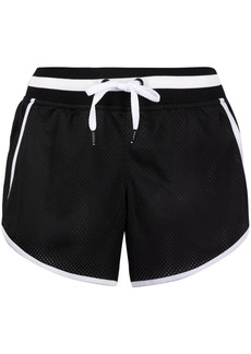 DKNY contrast-trim mesh effect shorts