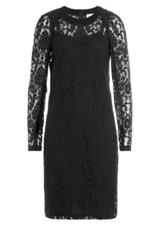 DKNY Cotton Blend Dress with Lace