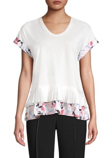 DKNY Cotton-Blend Peplum Top