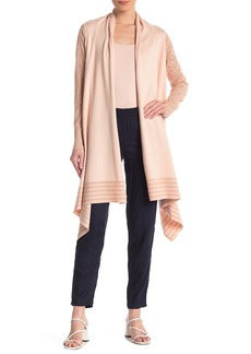 DKNY Cozy Lace Sleeve Cardigan