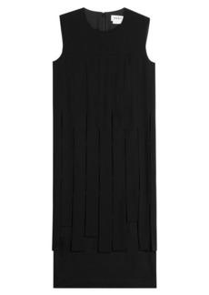DKNY Crepe Dress with Chiffon