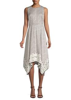 DKNY Geometric Trapeze Dress