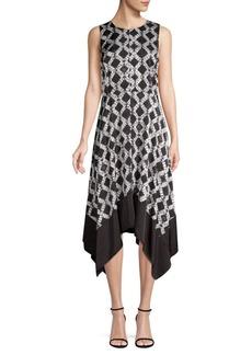 DKNY Crewneck Trapeze Dress