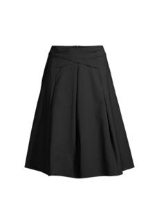DKNY Criss Criss Waist A-Line Skirt