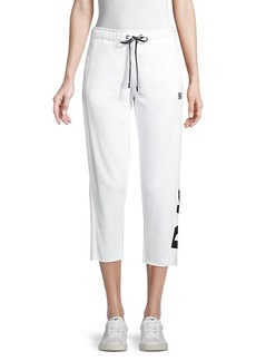 DKNY Cropped Cotton-Blend Jogger Pants