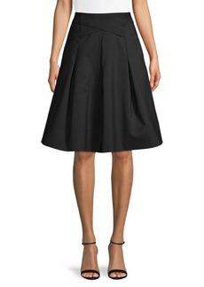 DKNY Cross Waist Cotton-Blend Skirt