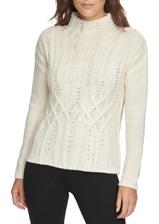 DKNY Crystal Cable Knit Sweater
