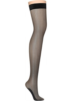 DKNY + Fishnet Thigh Highs