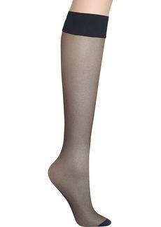 DKNY + Sheer Mirco Net Knee Highs 2-Pack