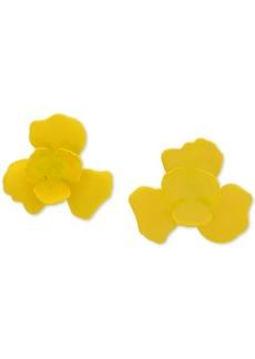 Dkny 3D Flower Button Earrings