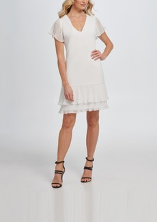 Dkny A-line Pleated Chiffon Dress