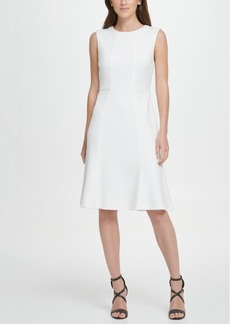 Dkny A-Line with Flounce Hem Dress
