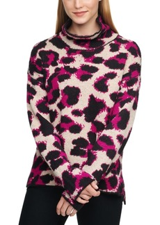 Dkny Plaid Turtleneck Sweater