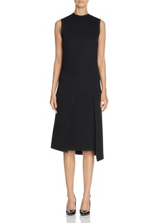 DKNY Asymmetric Overlay Scuba Dress