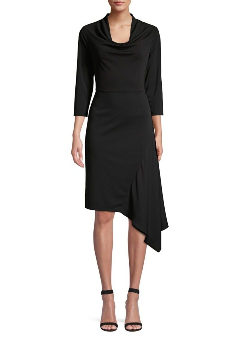 DKNY Donna Karan Asymmetric Sheath Dress