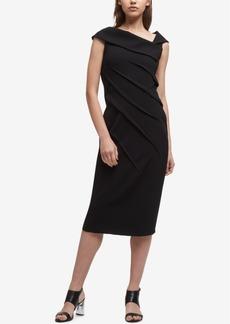 Dkny Asymmetrical-Collar Sheath Dress, Created for Macy's