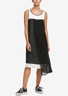 Dkny Asymmetrical Colorblocked Dress, Created for Macy's