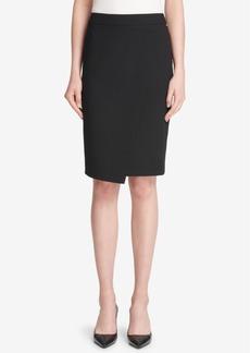 Dkny Asymmetrical Crossover Skirt, Created for Macy's