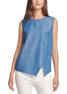 Dkny Asymmetrical Fringe Top