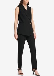 Dkny Asymmetrical One-Button Vest, Created for Macy's