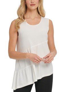 Dkny Asymmetrical Tiered Top