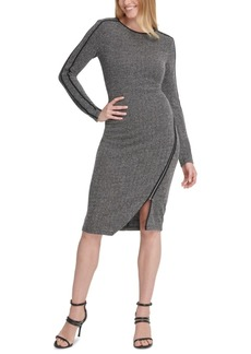 Dkny Asymmetrical-Zipper Dress