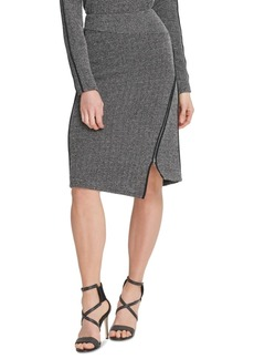 Dkny Asymmetrical-Zipper Skirt