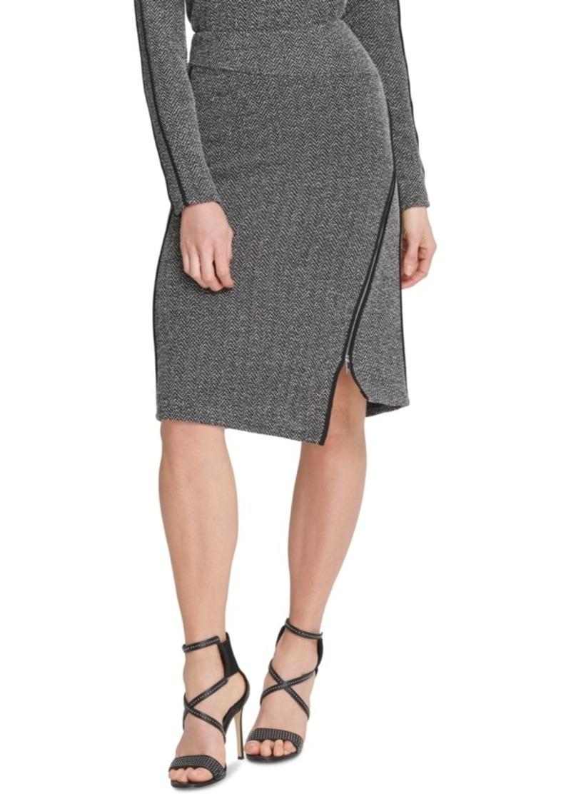 Dkny Asymmetrical-Zipper Skirt